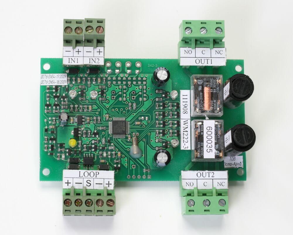 Пристрій вводу-виводу адресний WM222-3 (друкована плата)