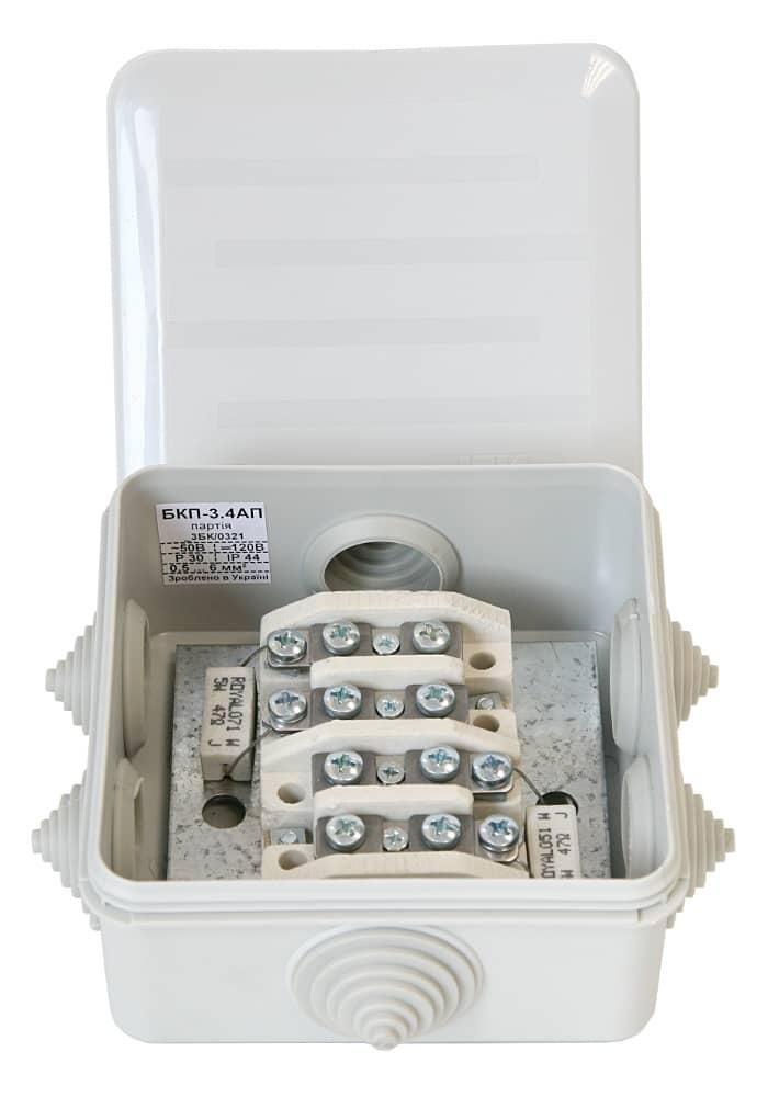 Коробка монтажна вогнетривка пластикова БКП-3.4АП (IP44). Ціна від виробника