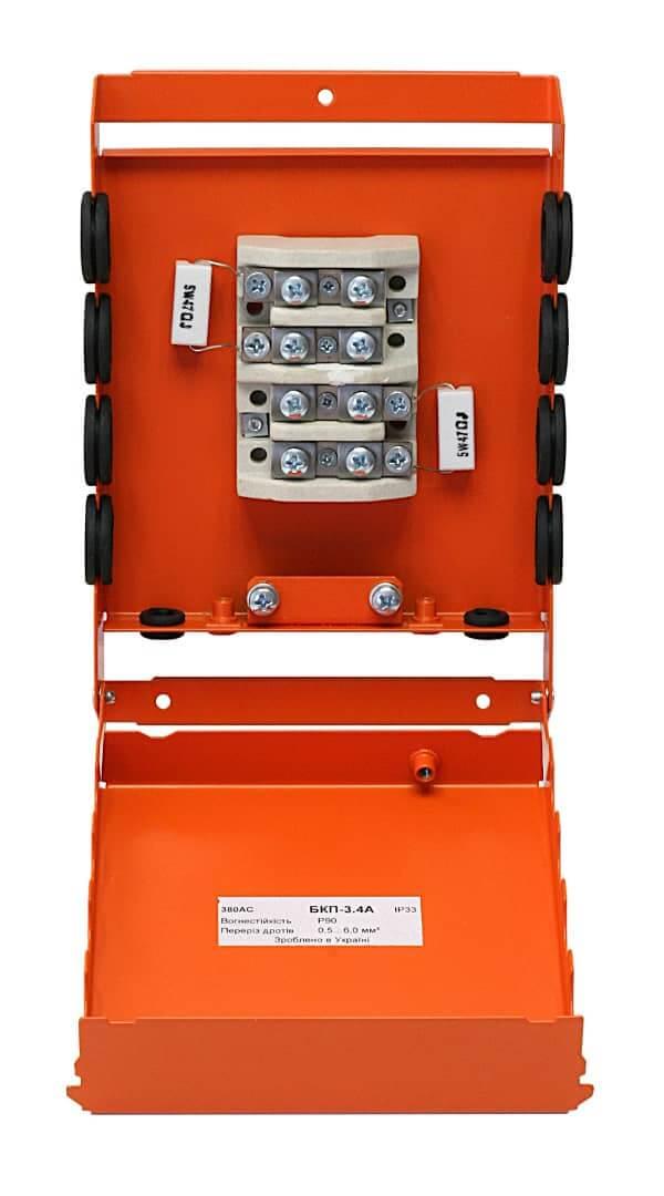 Коробка розподільча (монтажна) вогнестійка БКП-3.4A з керамічними резисторами