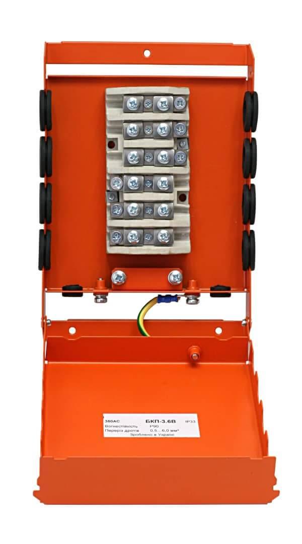 Коробка монтажна розподільча вогнетривка БКП-3.6B