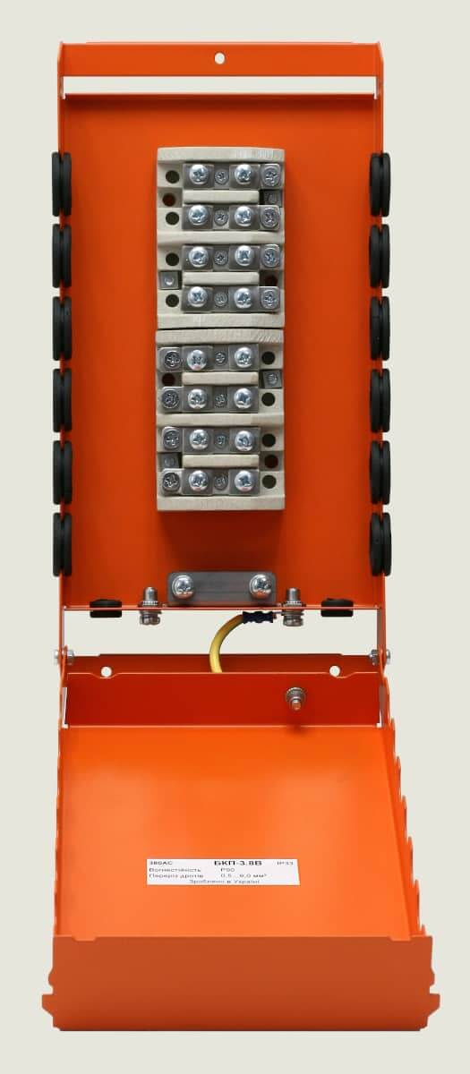 Коробка розподільна вогнестійка металева БКП-3.8В