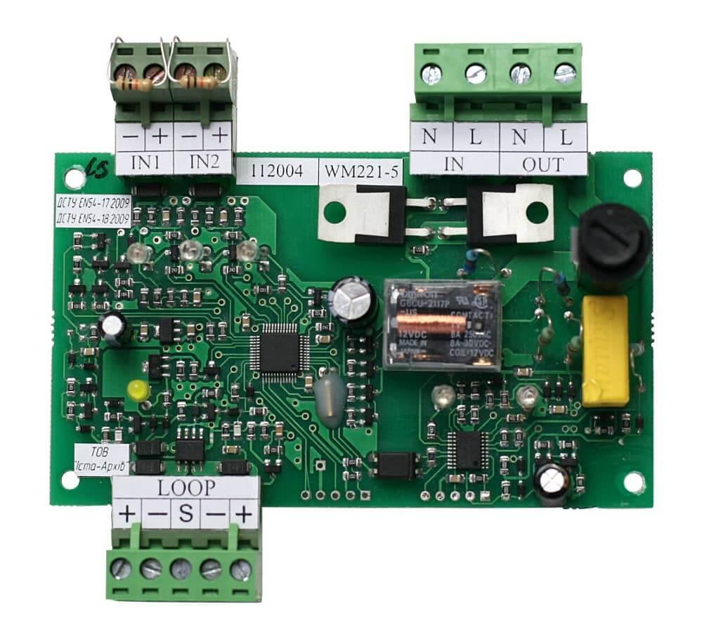 Пристрій вводу-виводу адресний WM221-5 (друкована плата)