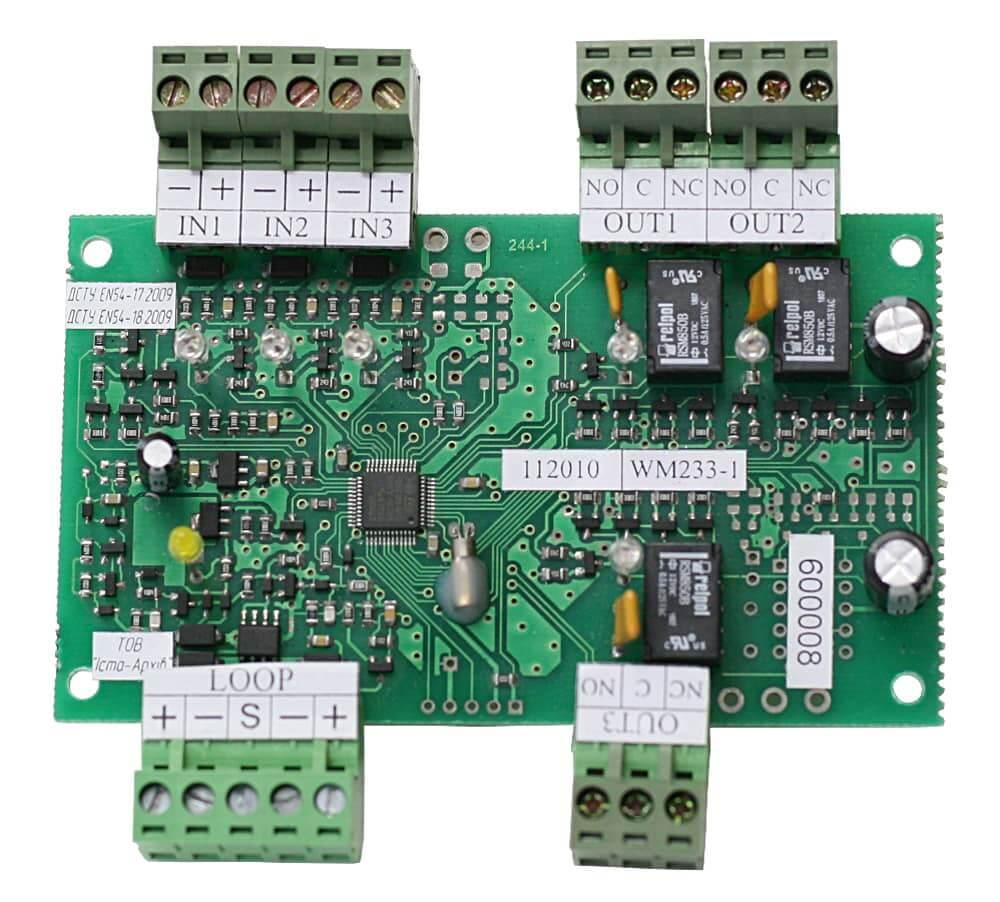 Пристрій вводу-виводу адресний WМ233-1 (друкована плата)