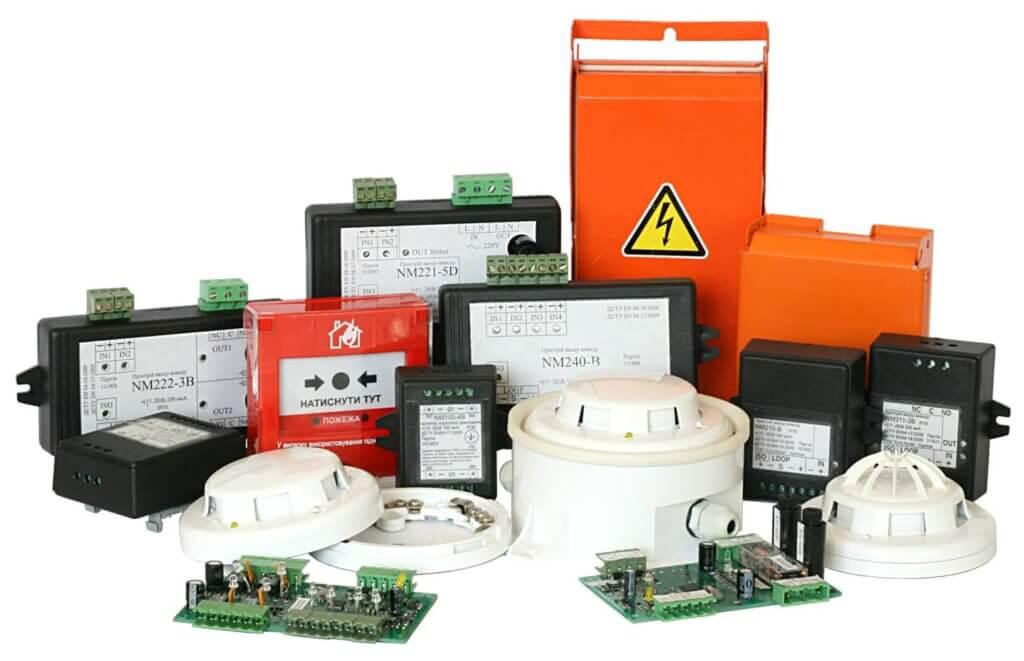 Розробка та виробництво елементів та пристроїв пожежної сигналізації